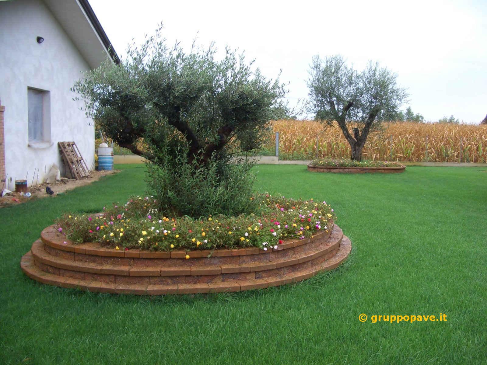 Muretti per aiuole fioriera con grigliato plastica - Muretti per giardino ...