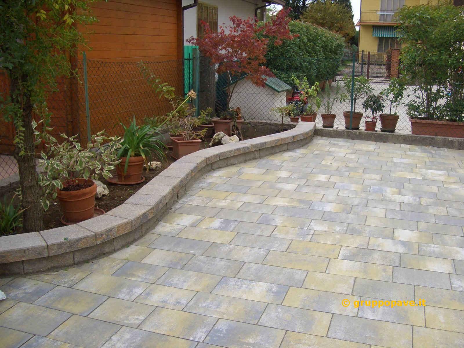 Posa Pavimento A Secco Giardino muretti murago | pave pavimentazioni