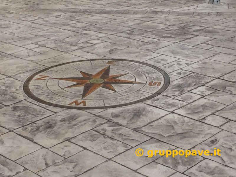 Pavimento Calcestruzzo Stampato : Pavimento in cemento stampato pave pavimentazioni